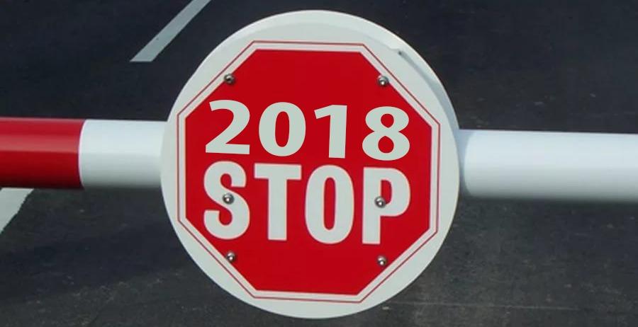 График закрытия дорог в 2018